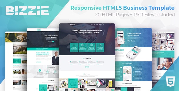 Bizzie - Responsive Business HTML5 Template - Business Corporate