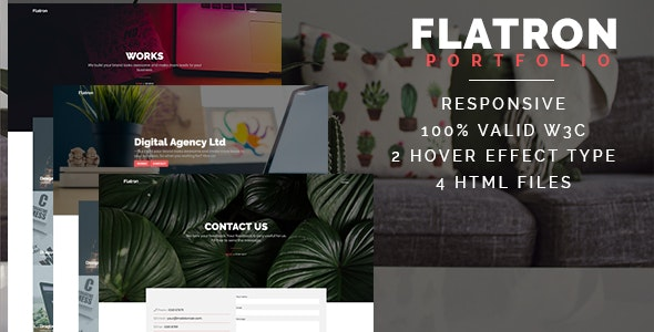 Flatron - Responsive Portfolio HTML Template - Portfolio Creative