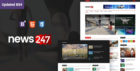 News247 - News Magazine HTML Template - Entertainment Site Templates