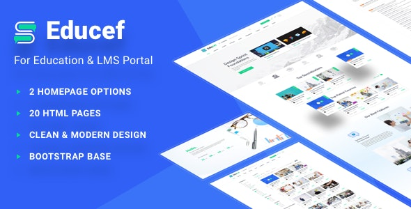 Educef - LMS HTML Template - Corporate Site Templates