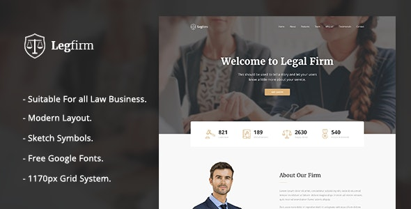 Legfirm - Legal Firm Sketch Template - Business Corporate