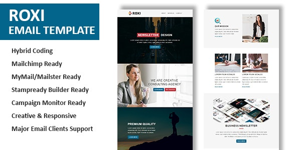 Roxi - Multipurpose Responsive Email Template With Online StampReady Builder Access - Newsletters Email Templates