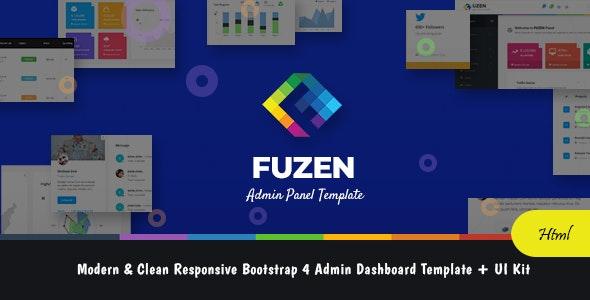 Fuzen - Modern & Clean Responsive Bootstrap 4 Admin Dashboard Template + UI Kit - Admin Templates Site Templates