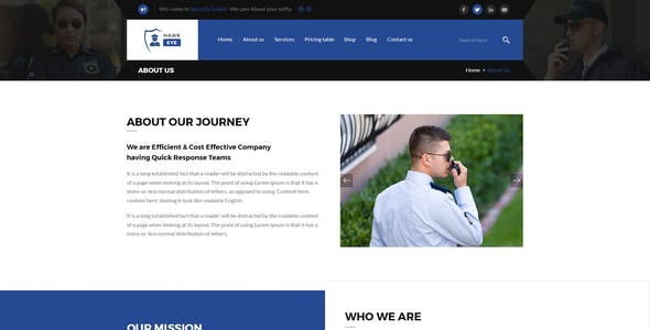 Hawkeye - Security Services & Guarding HTML Template