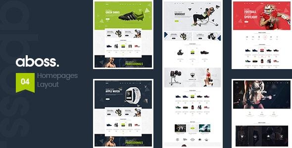Aboss – Fitness Equipment Store HTML Template - Health & Beauty Retail