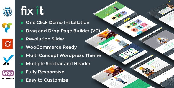 Fixit Construction - WordPress Theme - Business Corporate