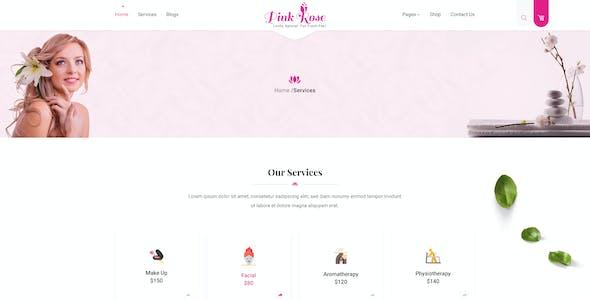 Pink Rose Unique Web Layout PSD Template