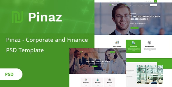 Pinaz - Corporate and Finance PSD Template - Corporate Photoshop