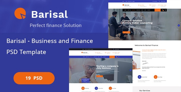 Barisal - Business and Finance PSD Template - Corporate Photoshop