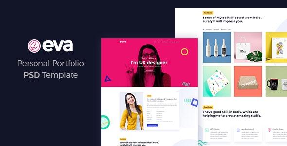 Eva - Personal Portfolio PSD Template - Portfolio Creative