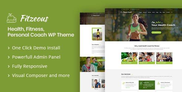 Fitzeous - Personal Fitness Trainer WordPress Theme