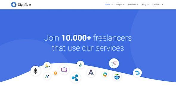 Signflow - Ultra Modern Tech & Startup Drupal 8.9 Theme