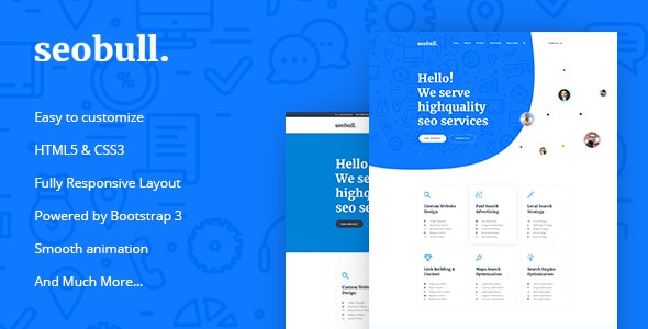 Seohub - Startup & Agency HTML Template - Technology Site Templates