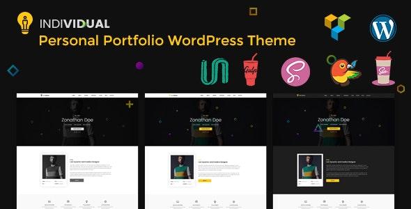 Individual - Minimal Personal Portfolio WordPress Theme - Portfolio Creative