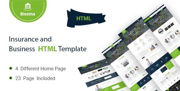 Bieema - Insurance Agency & Business HTML5 Template - Miscellaneous Site Templates
