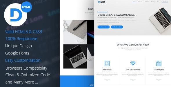 Didio | Responsive Agency & Portfolio HTML Template - Portfolio Creative