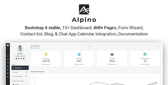 Alpino - Bootstrap 4 Admin Dashboard Template - Admin Templates Site Templates