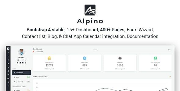 Alpino - Bootstrap 4 Admin Dashboard Template