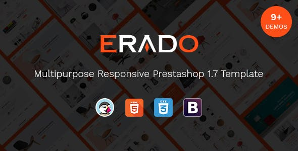 Erado - Unique Design Responsive Prestashop Theme