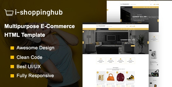 i-shoppinghub  Multipurpose E-commerce Responsive  HTML5 Template - Retail Site Templates