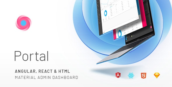 Portal - Angular, React & HTML Material Admin Template by