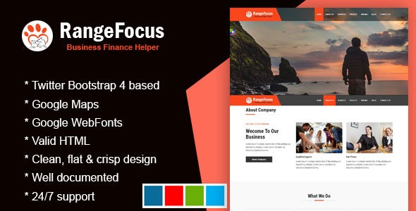 RangeFocus - One Page Corporate Template - Business Corporate