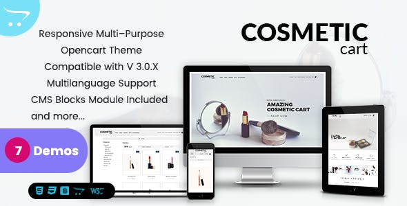 Cosmetics - Premium OpenCart Themes for Shopping Cart