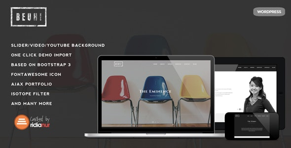 Beuh - Responsive One Page Portfolio Theme - Portfolio Creative