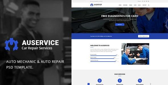 Auservice - Auto Repair PSD Template - Business Corporate