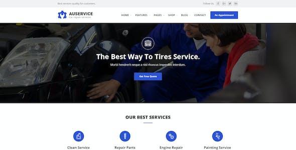 Auservice - Auto Repair PSD Template