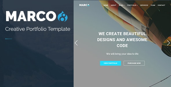 MARCO - Responsive Multipurpose Drupal 8.8 Theme - Creative Drupal