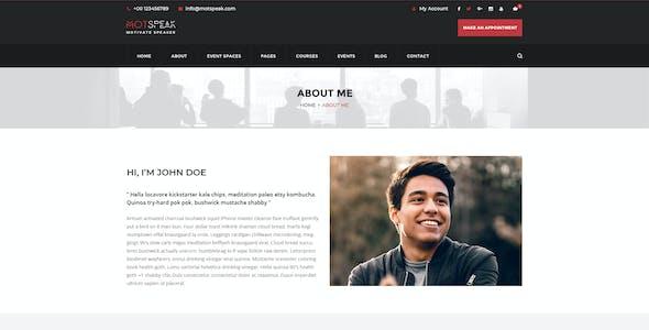 Motspeak - Motivational Speaker & Advisor PSD Template