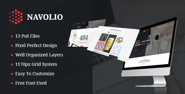 Navolio - Creative Agency PSD Template - Creative Photoshop