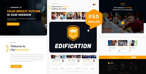 EDIFICATION - Educational Psd Template - Business Corporate