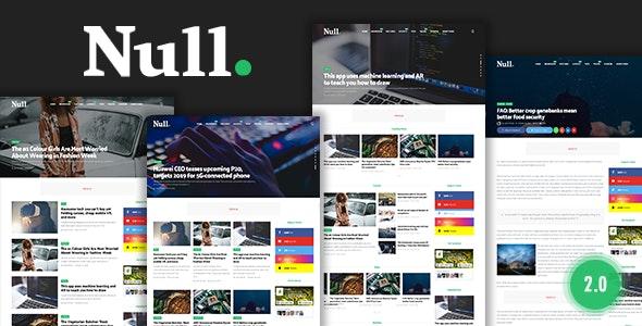 Null - News & Editorial Magazine Blogger Theme - Blogger Blogging