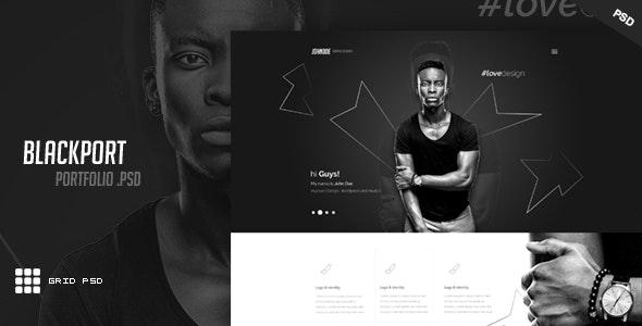 BlackPort - Personal Portfolio & Resume PSD Template - Portfolio Creative