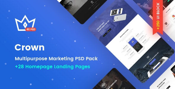 Crown - Multipurpose Marketing PSD Landing Page Pack - Marketing Corporate