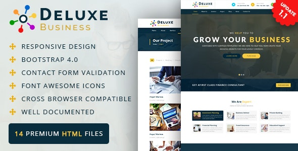 Deluxe Business HTML Template - Business Corporate