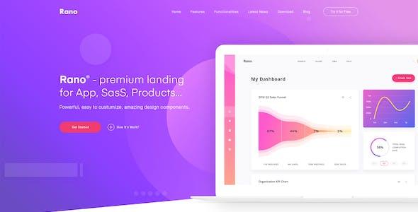 Rano - Landing Page PSD Templates