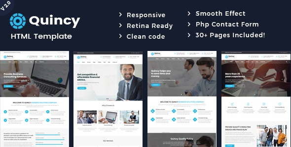 Quincy - Business Consulting and Professional Services HTML Template - Business Corporate