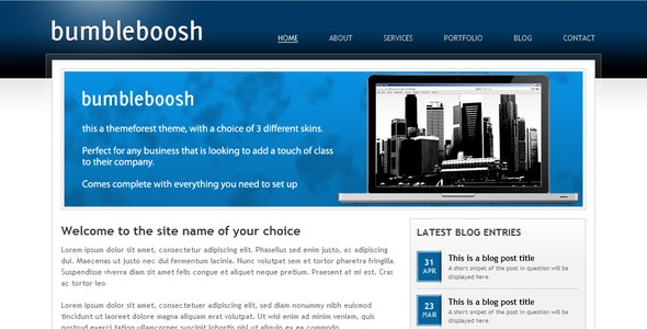 BumbleBoosh Business & Portfolio Theme - 3 in 1 - Corporate Site Templates