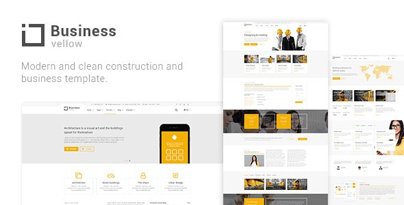 Yellow Business Construction Joomla Template - Business Corporate