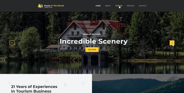 Svargo - Tourism and Entertainment One Page PSD Template