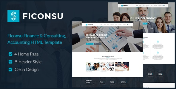 Ficonsu - Consultant Finance HTML Templates - Business Corporate