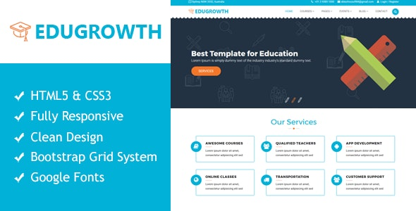 EduGrowth - Education HTML5 Responsive Template - Business Corporate