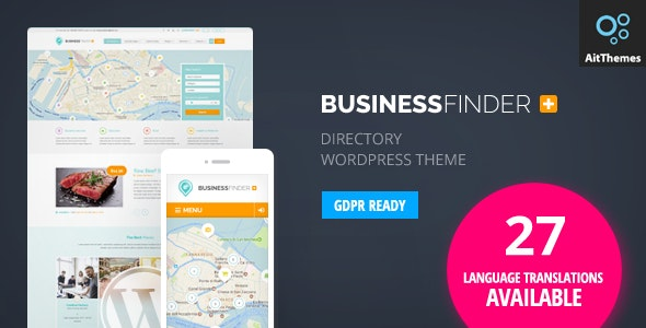 Business Finder Directory Listing Wordpress Theme By Ait Themeforest