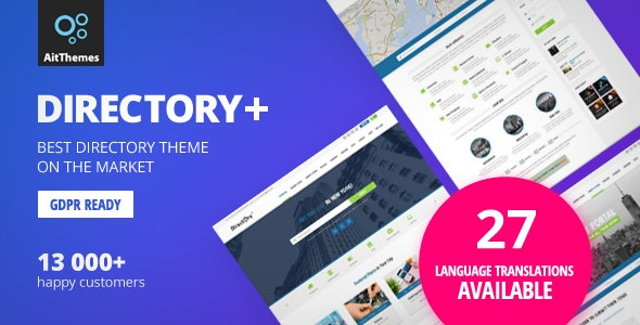 Directory+ - WordPress Directory Theme - Directory & Listings Corporate