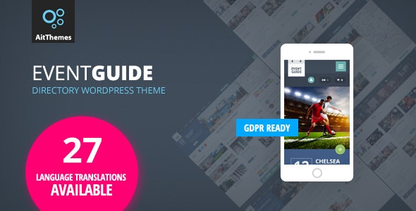 Event Guide - Directory Listing WordPress Theme - Events Entertainment