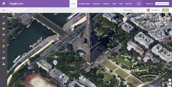 FoodGuide - Restaurant & Bars Directory WordPress Theme