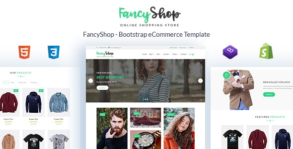 Fancyshop - Responsive & Multipurpose Bootstrap Sectioned Drag & Drop Shopify Theme - Shopify eCommerce